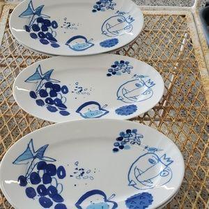5 LENGSFELD PORZELLAN oval plates
